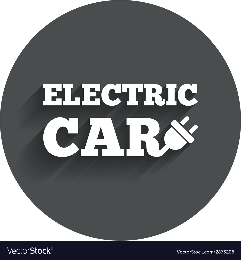 Electric car sign icon electric vehicle symbol vector | Price: 1 Credit (USD $1)