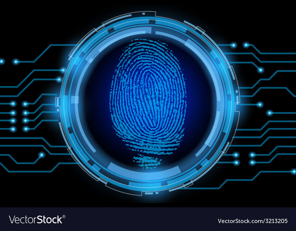 Finger print with electric cycle vector | Price: 1 Credit (USD $1)