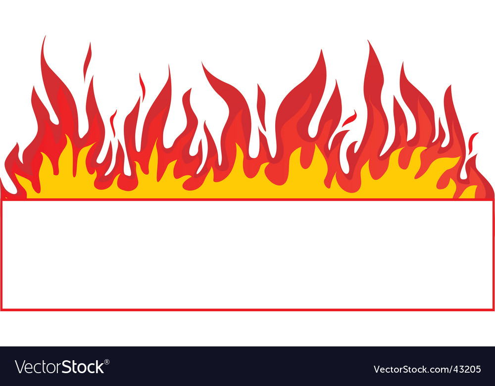 Fire banner background vector | Price: 1 Credit (USD $1)