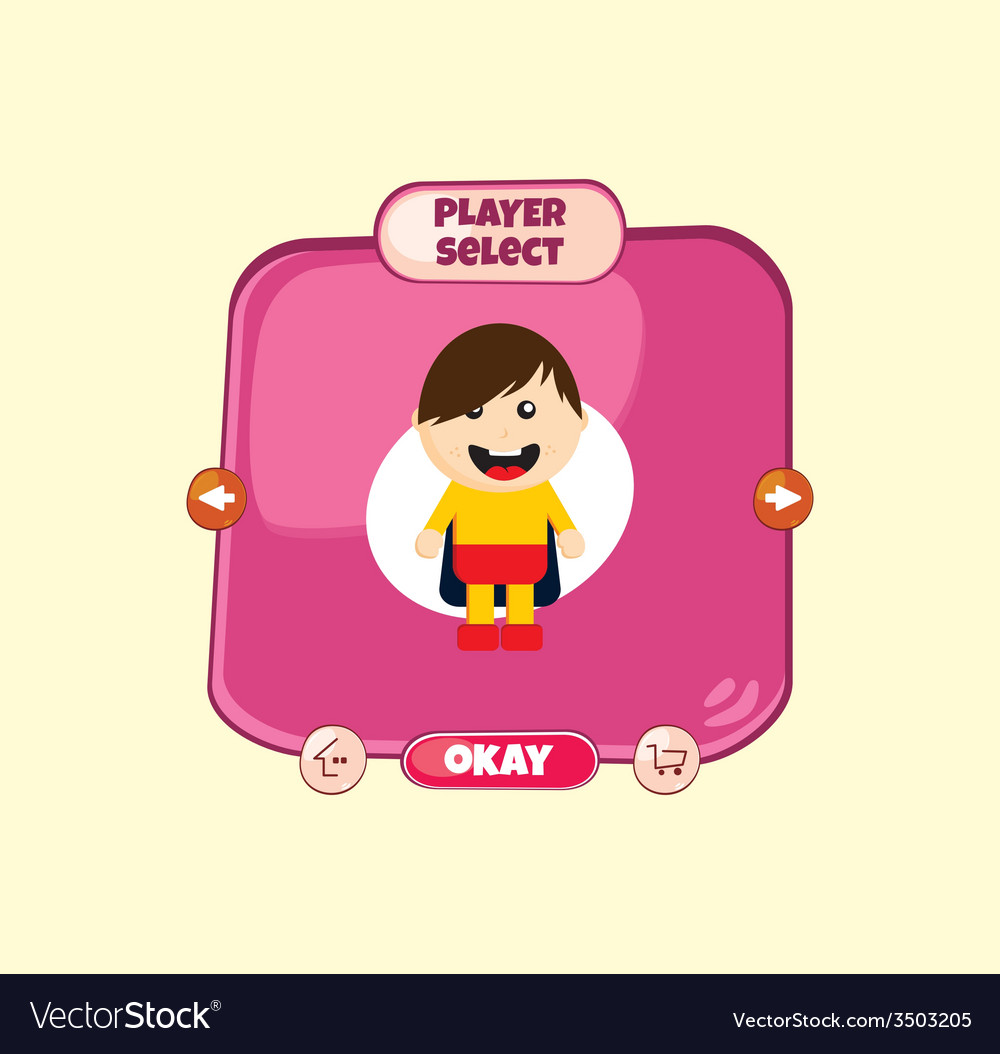 Hero character option game assets element vector   Price: 1 Credit (USD $1)