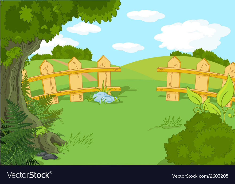 Idyllic landscape vector | Price: 1 Credit (USD $1)