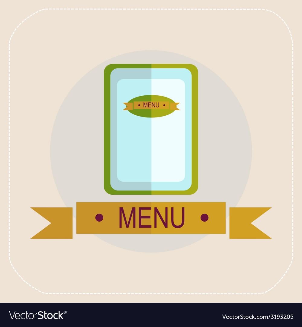 The menu for the cafe icon vector | Price: 1 Credit (USD $1)