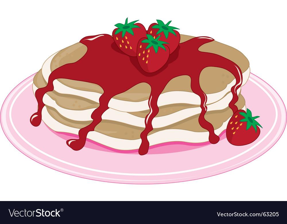Pancakes strawberry vector | Price: 1 Credit (USD $1)