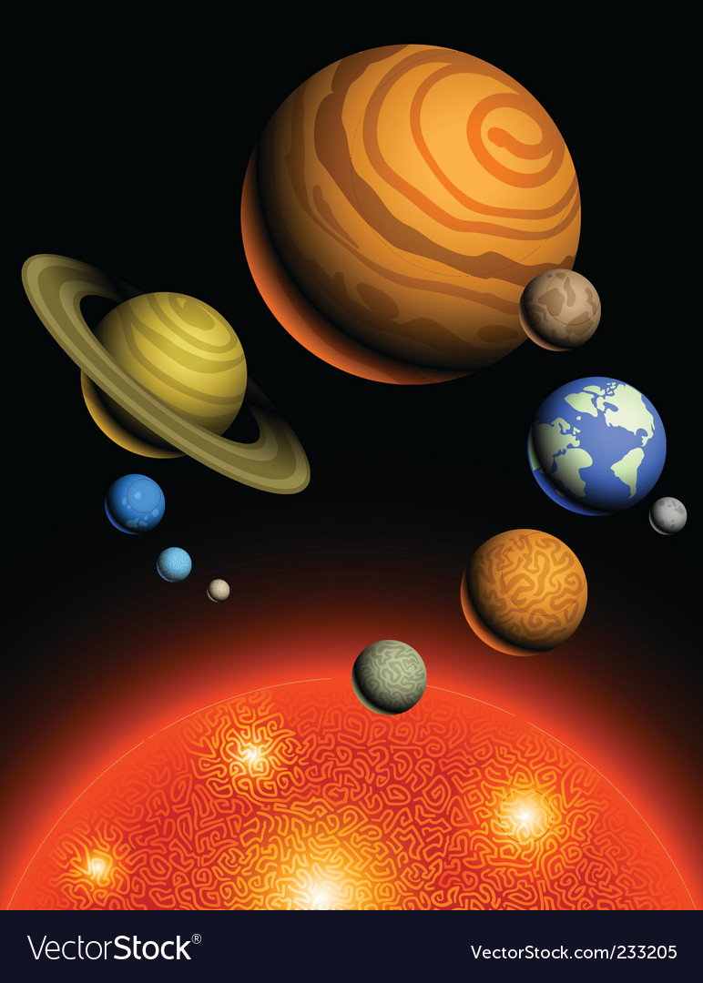 Planets of solar system vector | Price: 3 Credit (USD $3)