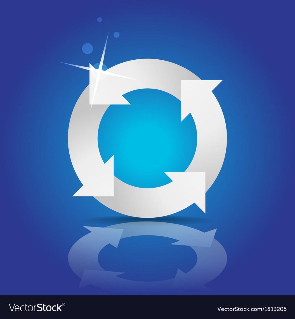 Recycle symbol vector | Price: 1 Credit (USD $1)