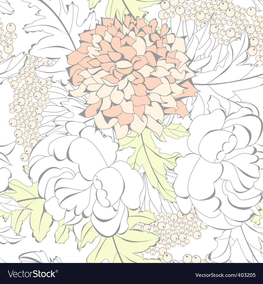 Romantic seamless wallpaper vector | Price: 1 Credit (USD $1)