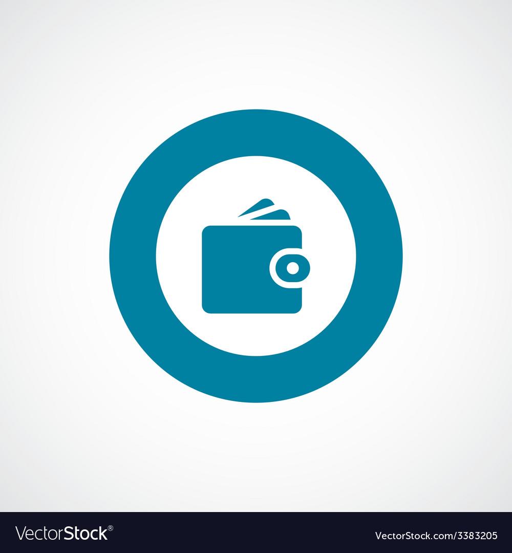 Wallet bold blue border circle icon vector | Price: 1 Credit (USD $1)