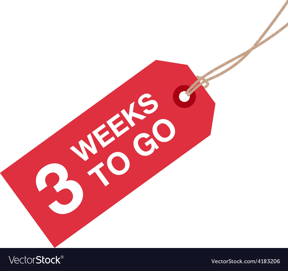 3 week to go vector | Price: 1 Credit (USD $1)