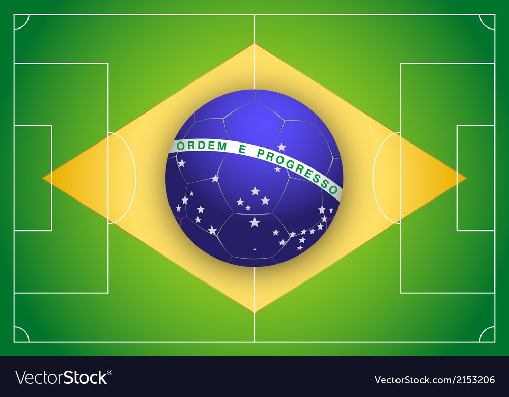 Brazilian flag and championship of football 2014 vector | Price: 1 Credit (USD $1)