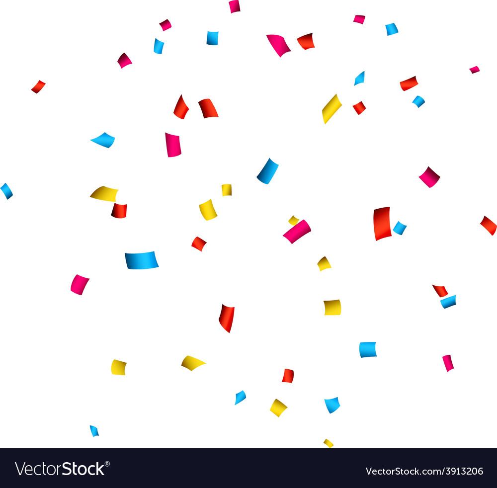 Confetti celebration background vector   Price: 1 Credit (USD $1)