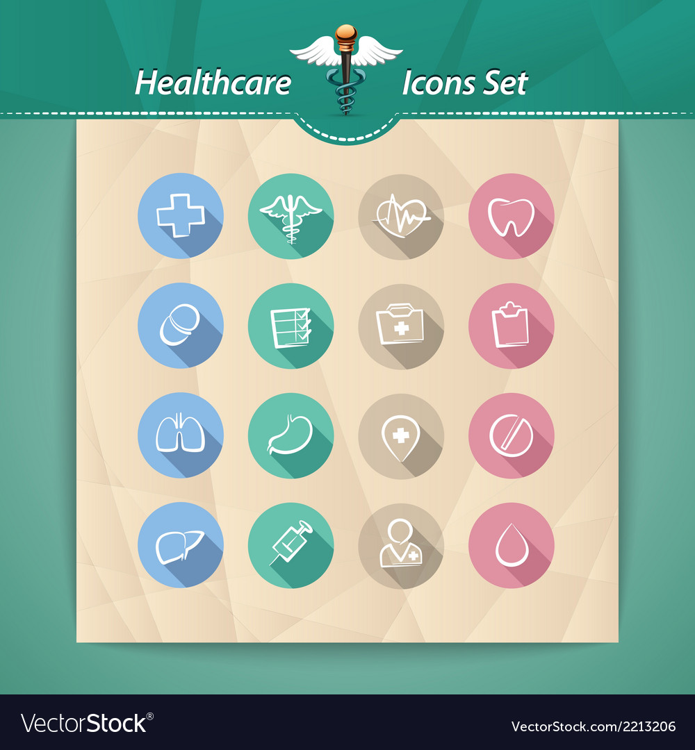 Medical flat icons vector | Price: 1 Credit (USD $1)