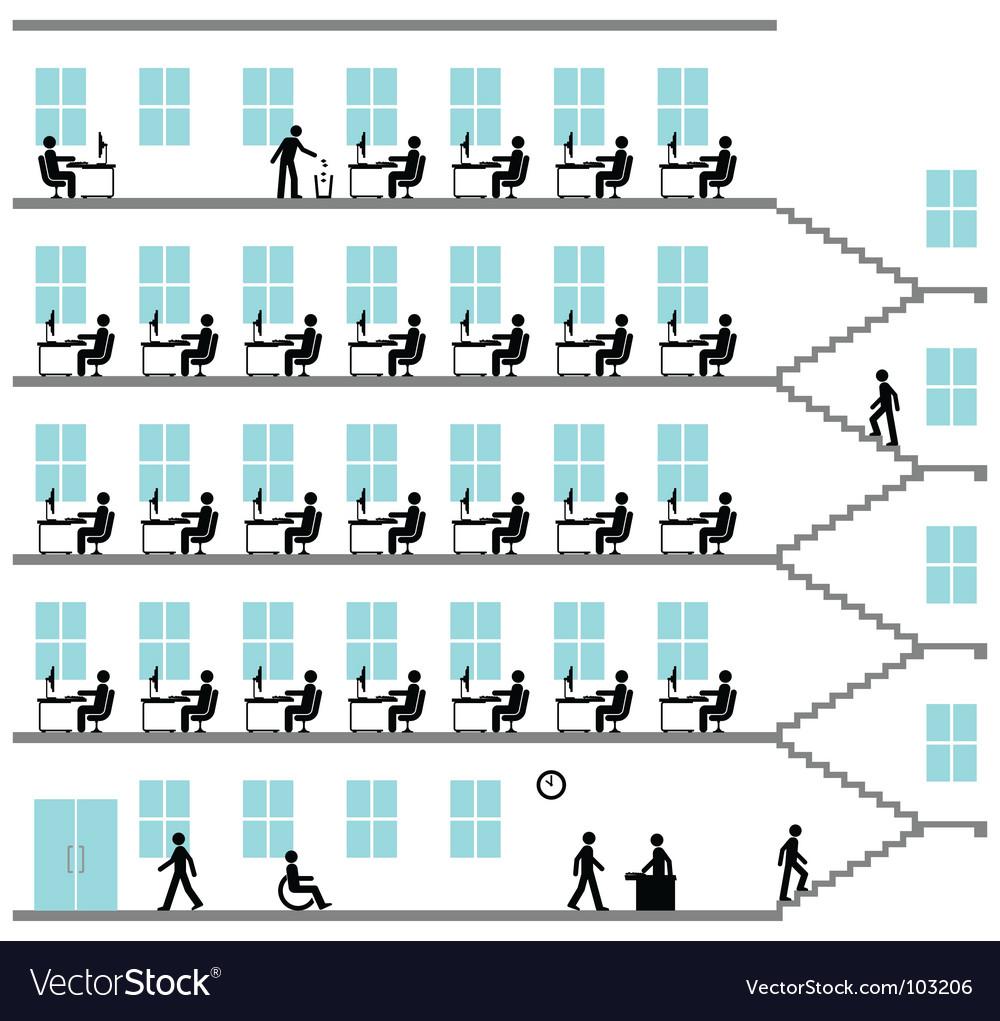 Office block vector | Price: 1 Credit (USD $1)