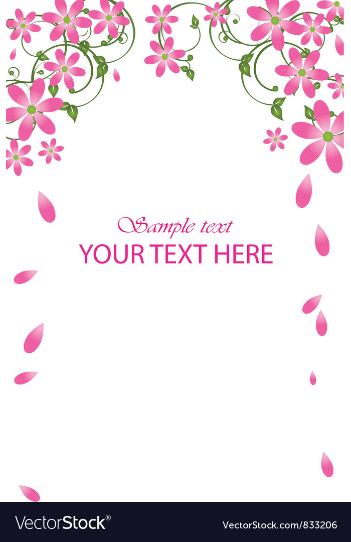Pink flowers vector | Price: 1 Credit (USD $1)