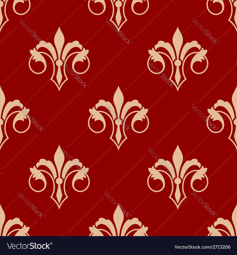 Seamless floral fleur de lis pattern vector | Price: 1 Credit (USD $1)