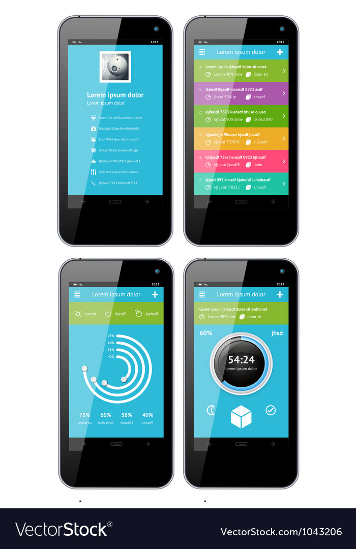 Simple template interface for phone vector | Price: 3 Credit (USD $3)