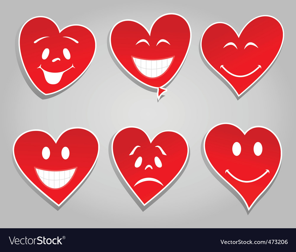 Smile hearts vector | Price: 1 Credit (USD $1)