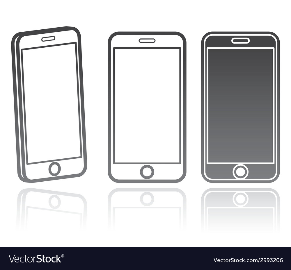 Technology icon of a modern phone vector | Price: 1 Credit (USD $1)