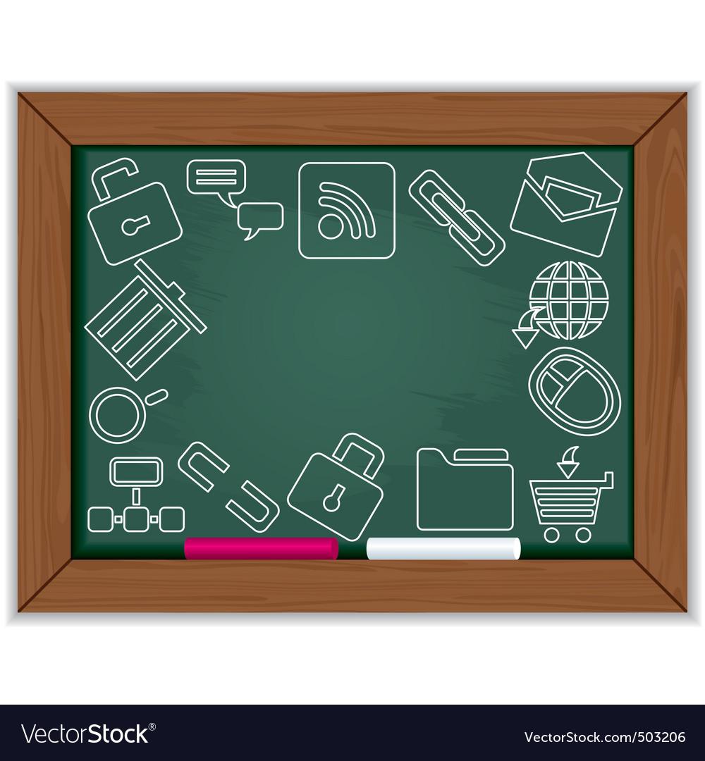 Web blackboard frame vector   Price: 1 Credit (USD $1)