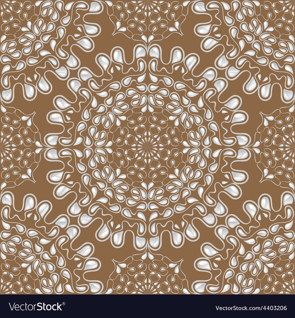 White water drops on brown background vector | Price: 1 Credit (USD $1)
