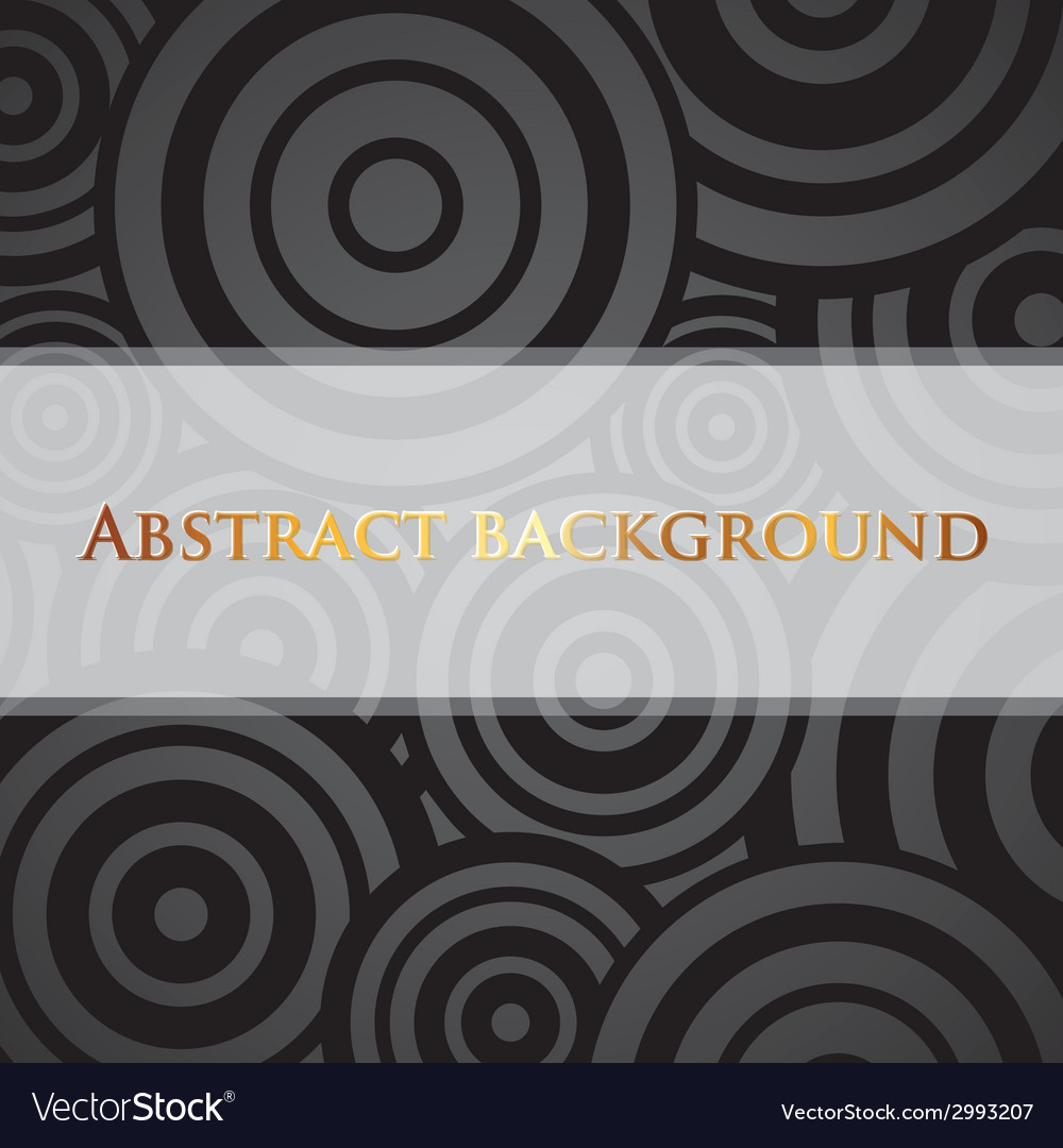 Abstract black background with circles and white vector | Price: 1 Credit (USD $1)