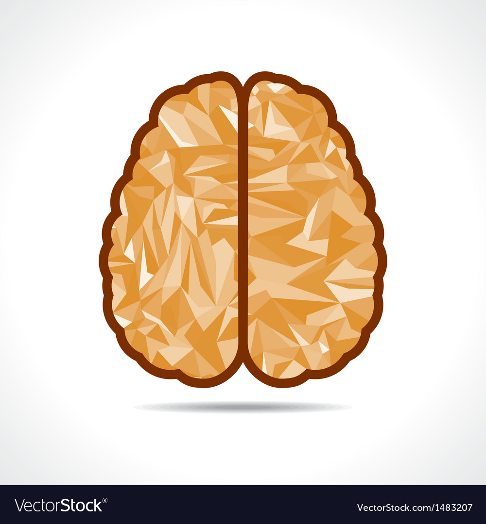 Abstract triangle brain icon vector | Price: 1 Credit (USD $1)