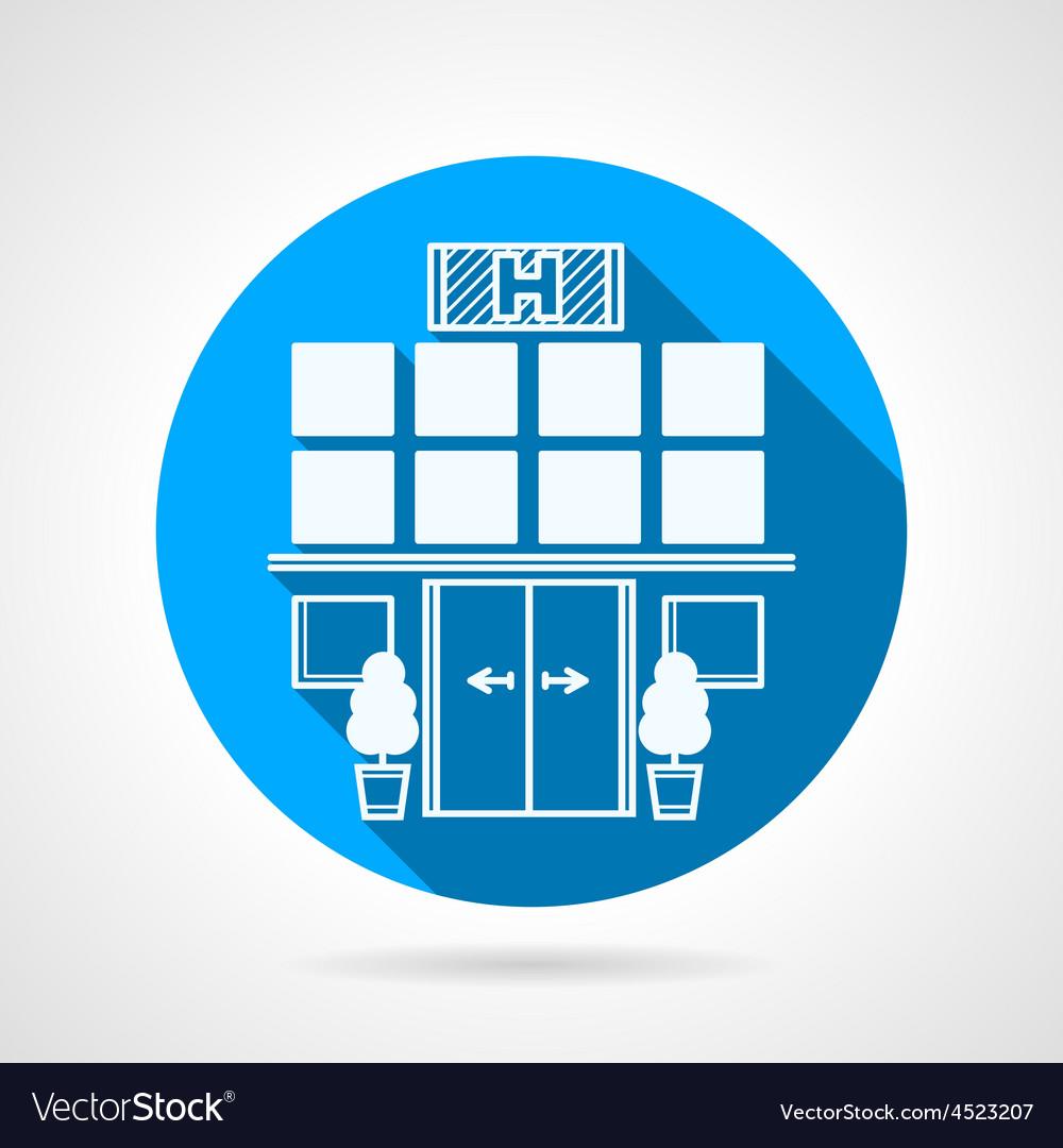 Blue icon for hospital facade vector | Price: 1 Credit (USD $1)