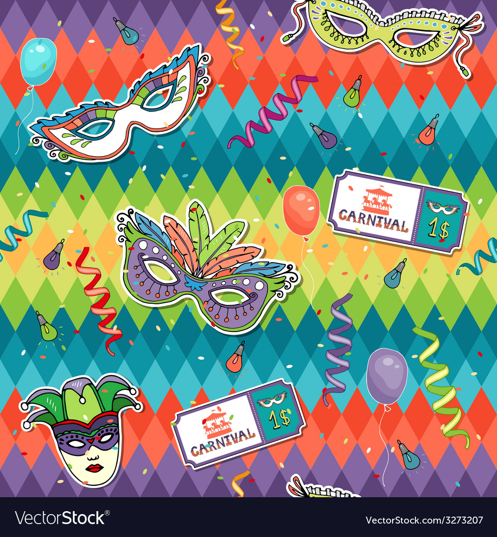 Colorful geometric carnival background vector | Price: 1 Credit (USD $1)