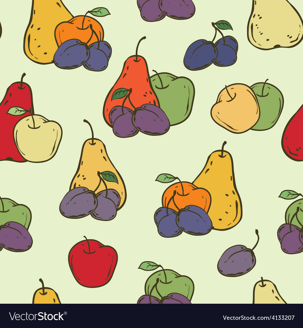 Fruits seamless pattern vector | Price: 1 Credit (USD $1)