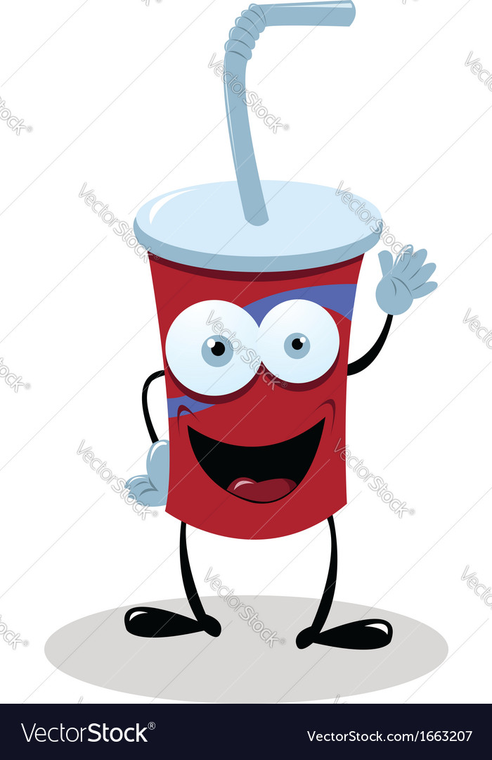 Funny fast food drink vector | Price: 1 Credit (USD $1)