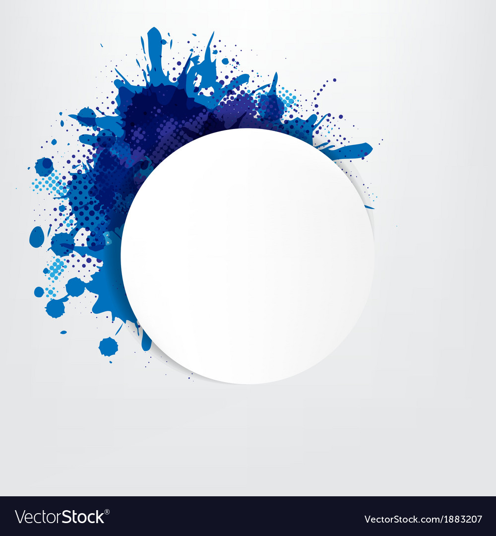 Grunge background with blue speech bubble vector | Price: 1 Credit (USD $1)