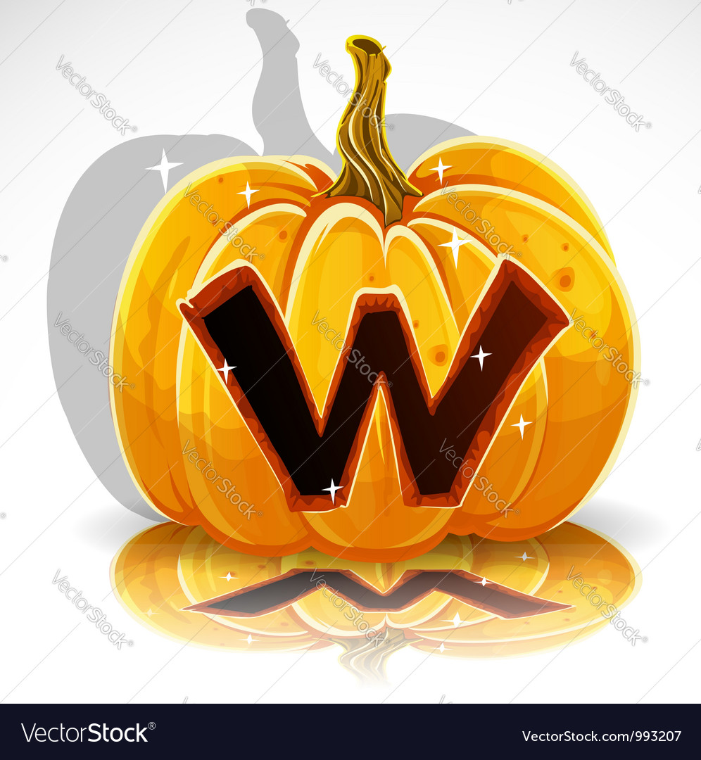 Halloween pumpkin w vector | Price: 1 Credit (USD $1)