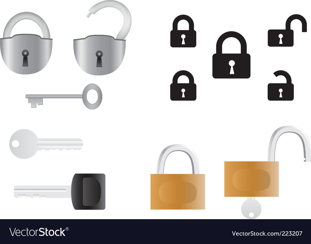 Locks and keys vector | Price: 1 Credit (USD $1)