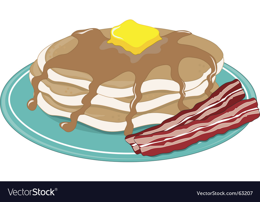 Pancakes bacon vector | Price: 1 Credit (USD $1)