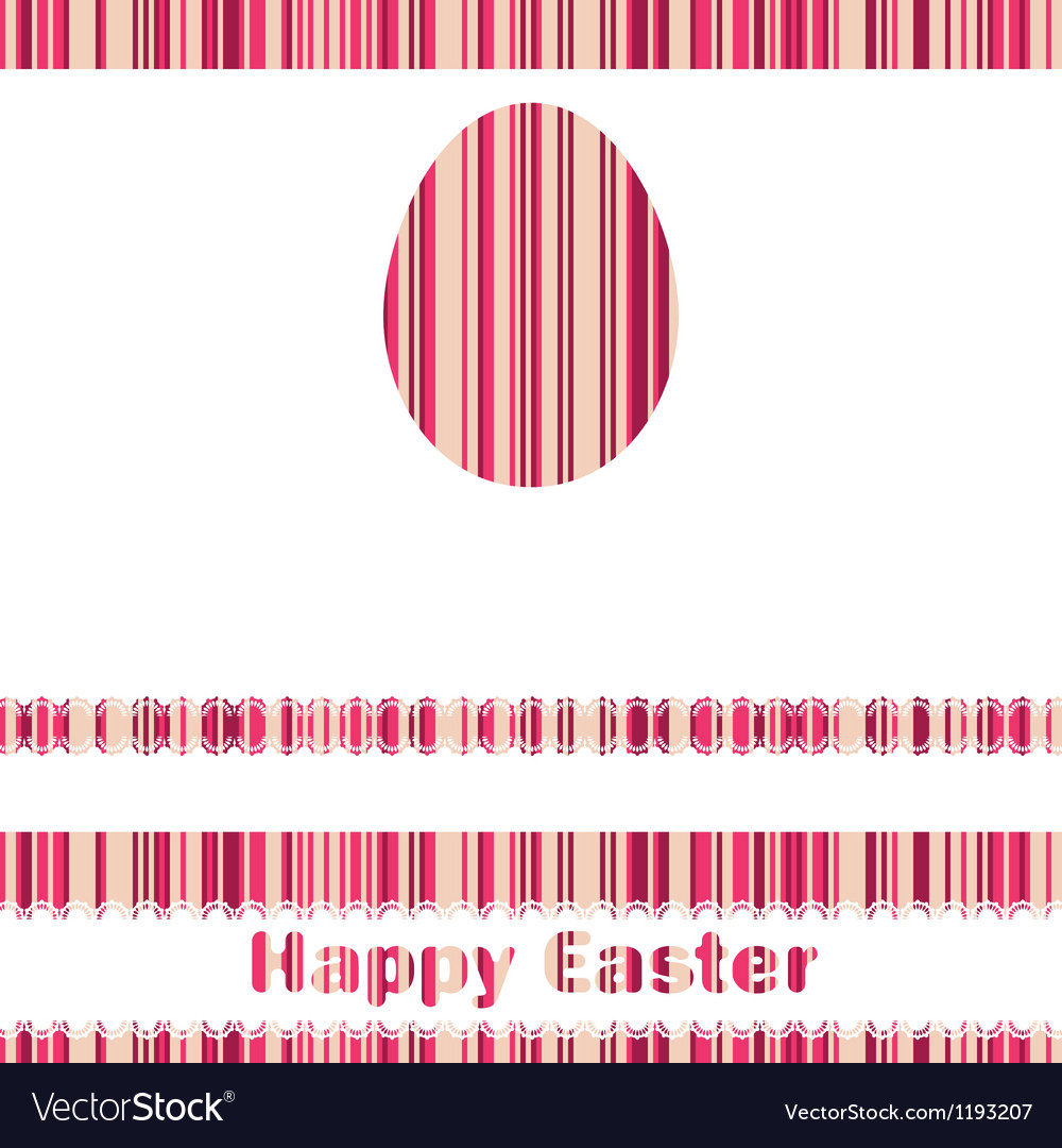 Postcard with easter egg on colorful eps 8 vector | Price: 1 Credit (USD $1)