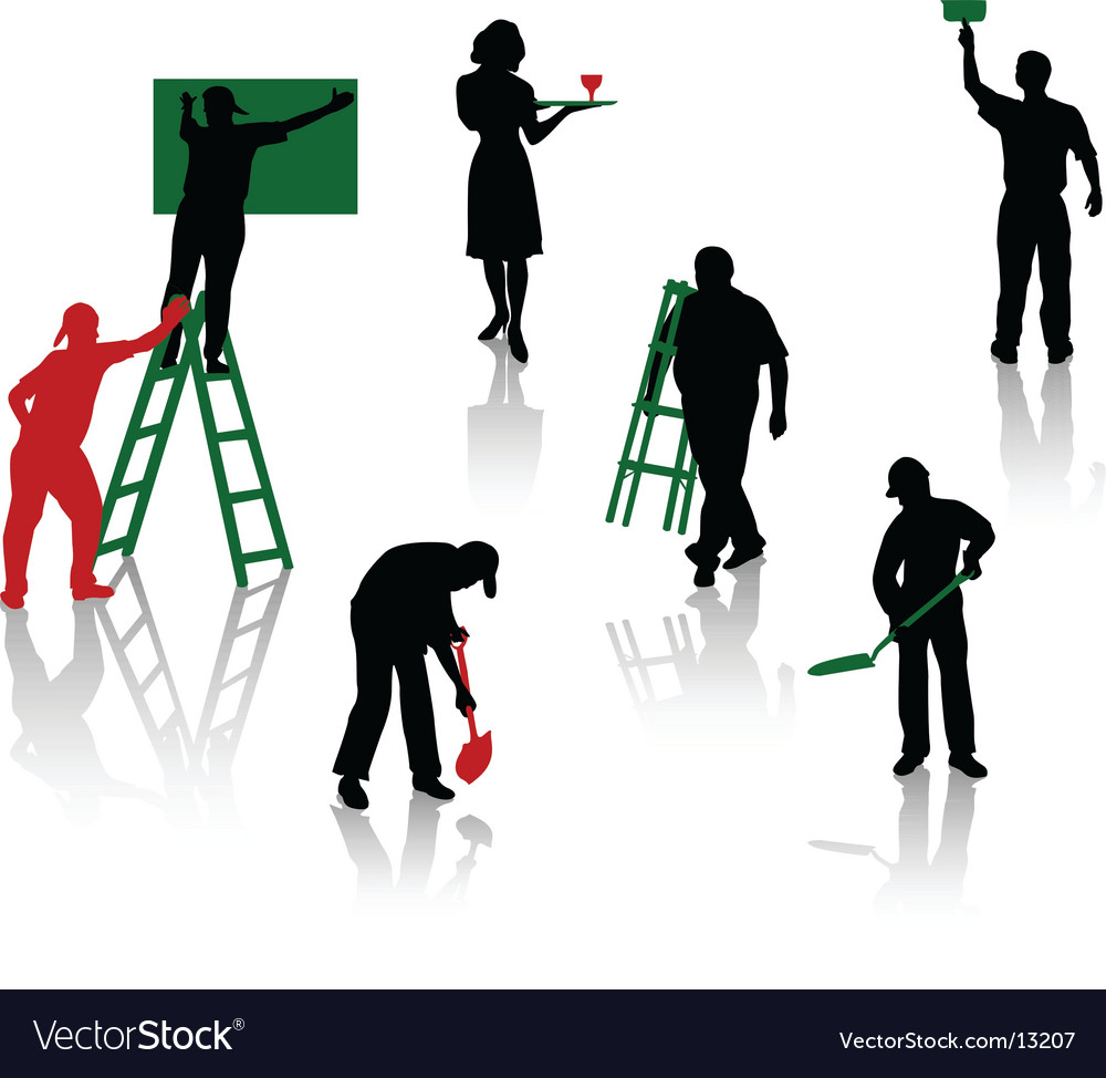 Workspeople vector | Price: 1 Credit (USD $1)