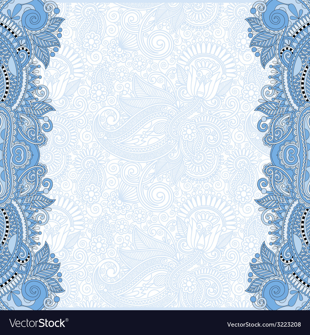 Blue colour unusual floral ornamental template vector | Price: 1 Credit (USD $1)