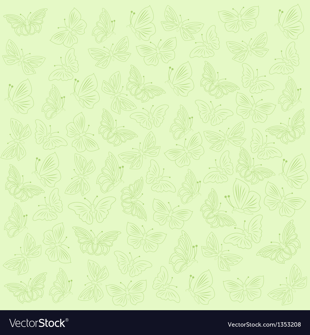 Butterflies green background vector | Price: 1 Credit (USD $1)