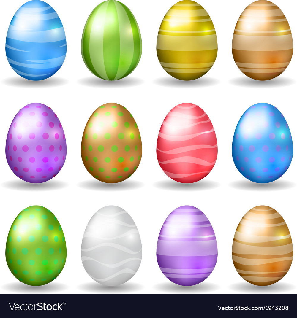 Decorated easter eggs vector | Price: 1 Credit (USD $1)