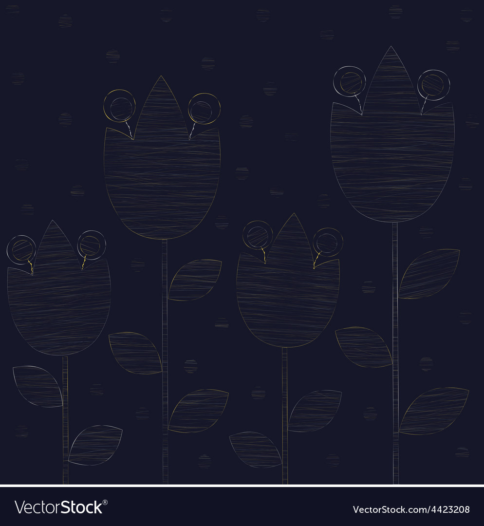 Embroidered gold lilies vector | Price: 1 Credit (USD $1)