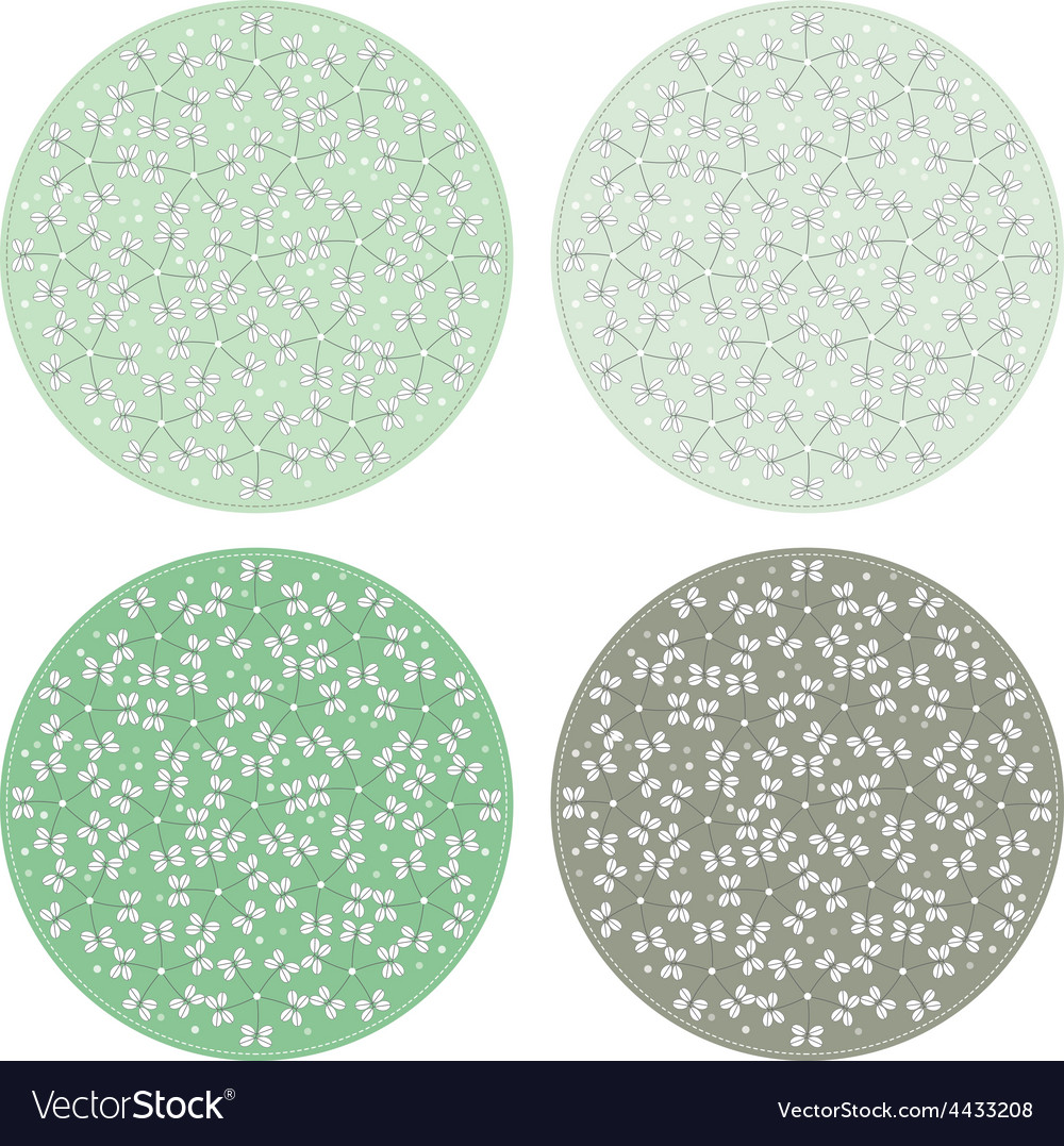 Floral pattern round backgrounds vector | Price: 1 Credit (USD $1)