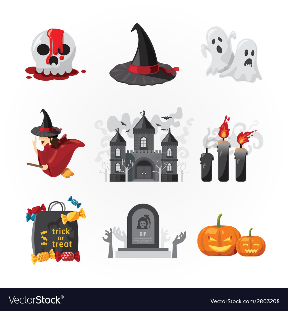 Halloween icons design vector | Price: 1 Credit (USD $1)