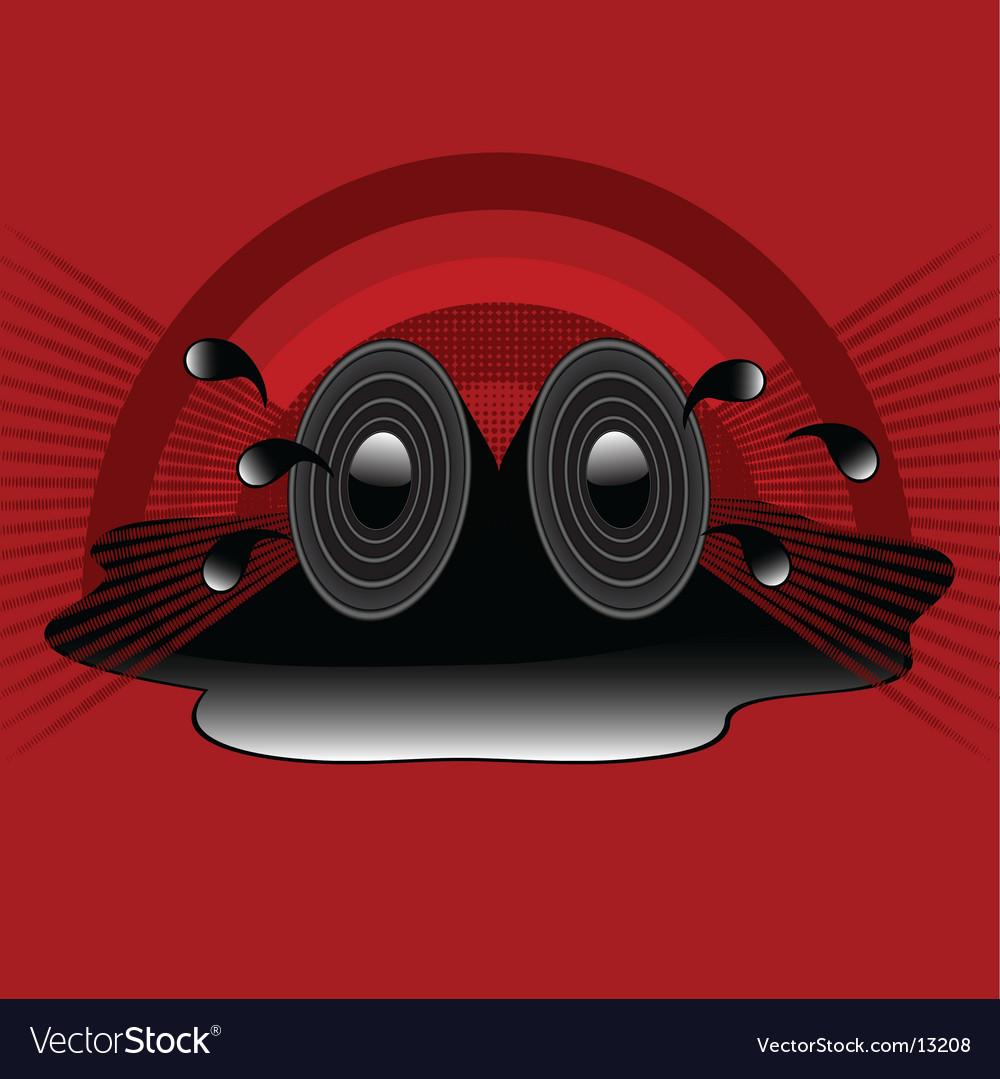Retro speakers vector   Price: 1 Credit (USD $1)