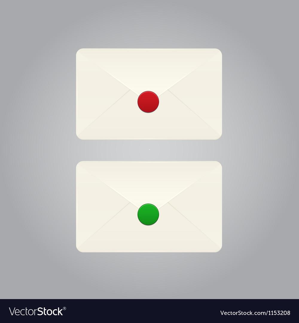 Set of envelope vector | Price: 1 Credit (USD $1)