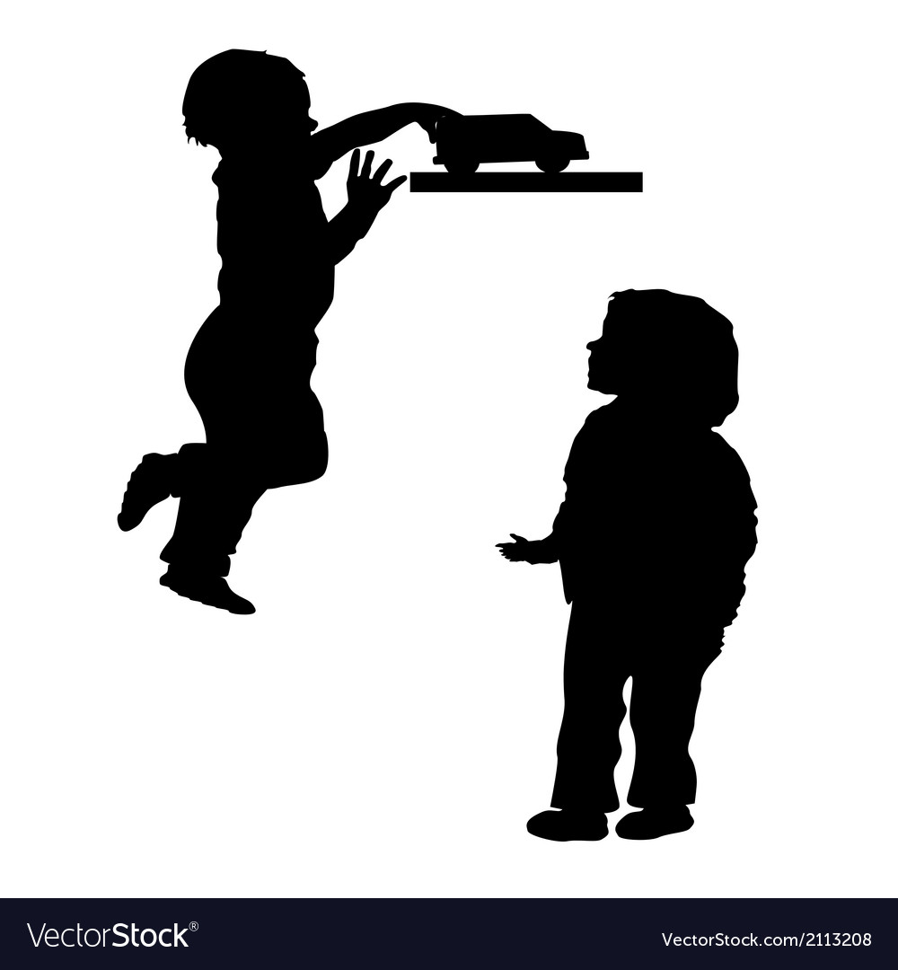 Silhouettes of children vector | Price: 1 Credit (USD $1)