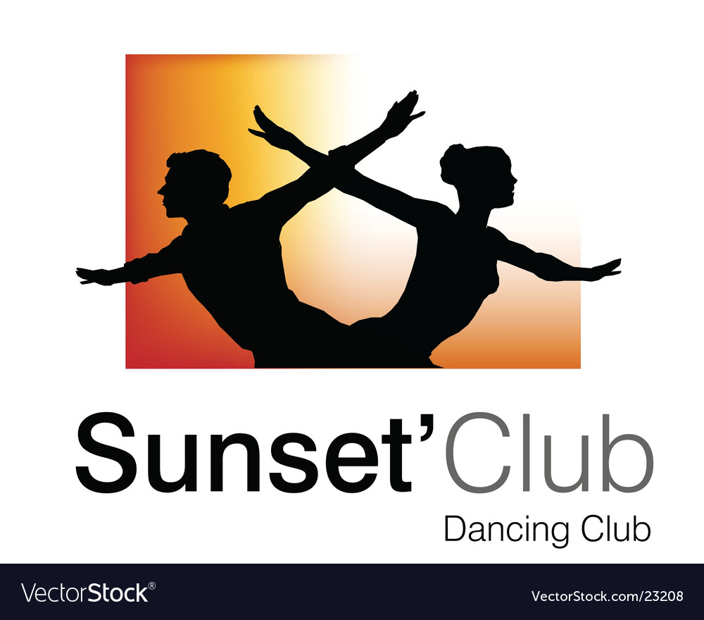 Sunset club logo vector | Price: 1 Credit (USD $1)