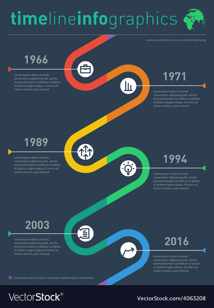 Time line info graphic with diagram and over graph vector | Price: 1 Credit (USD $1)
