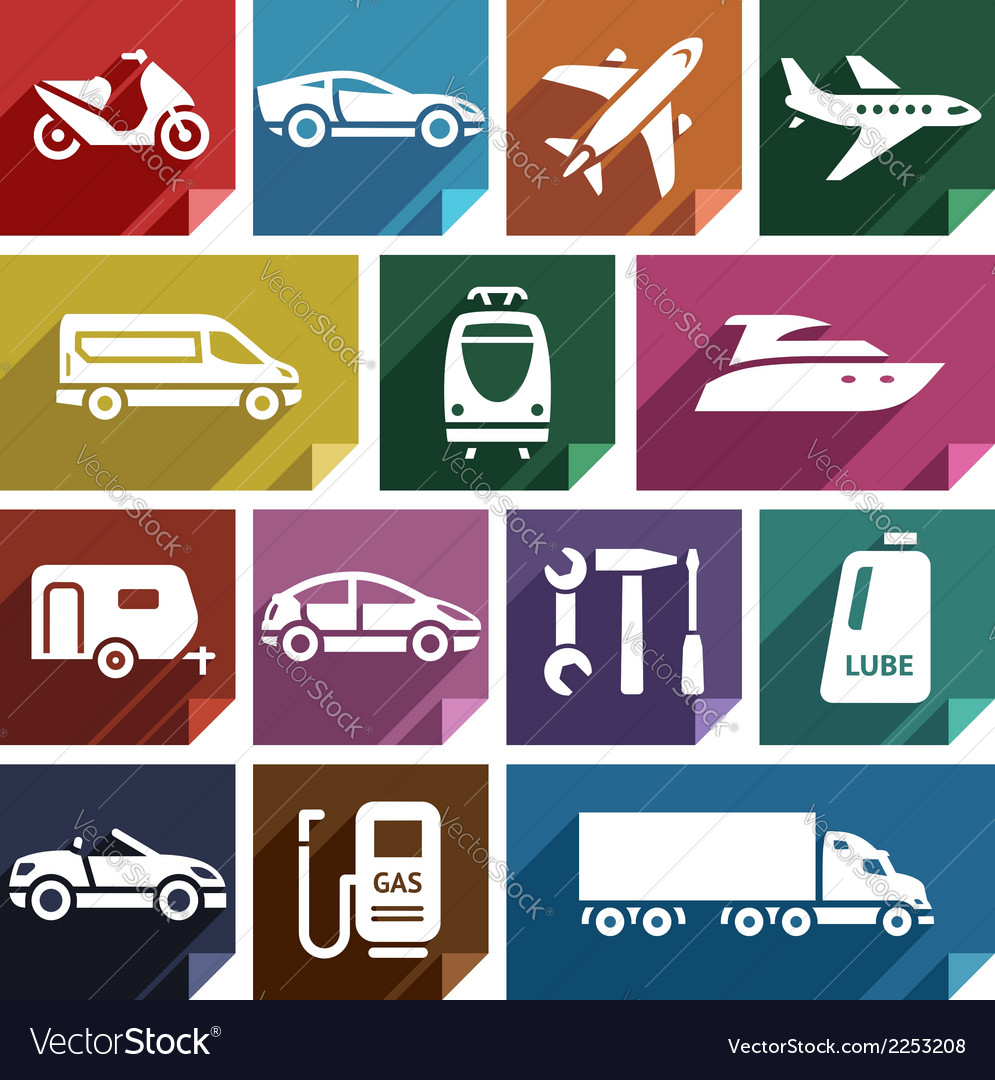 Transport flat icon-09 vector | Price: 1 Credit (USD $1)