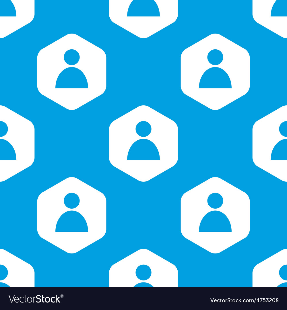User hexagon pattern vector | Price: 1 Credit (USD $1)