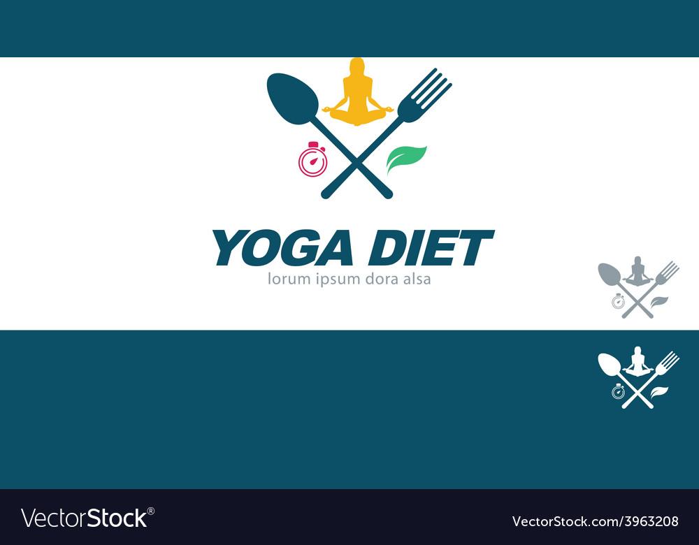 Yoga diet wellness health concept design element vector