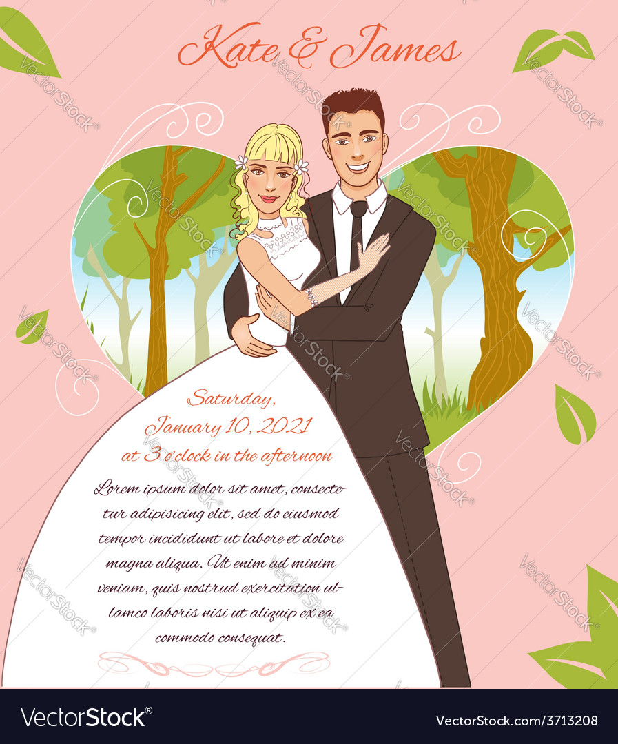 Young couple on the summer background eps10 vector | Price: 1 Credit (USD $1)